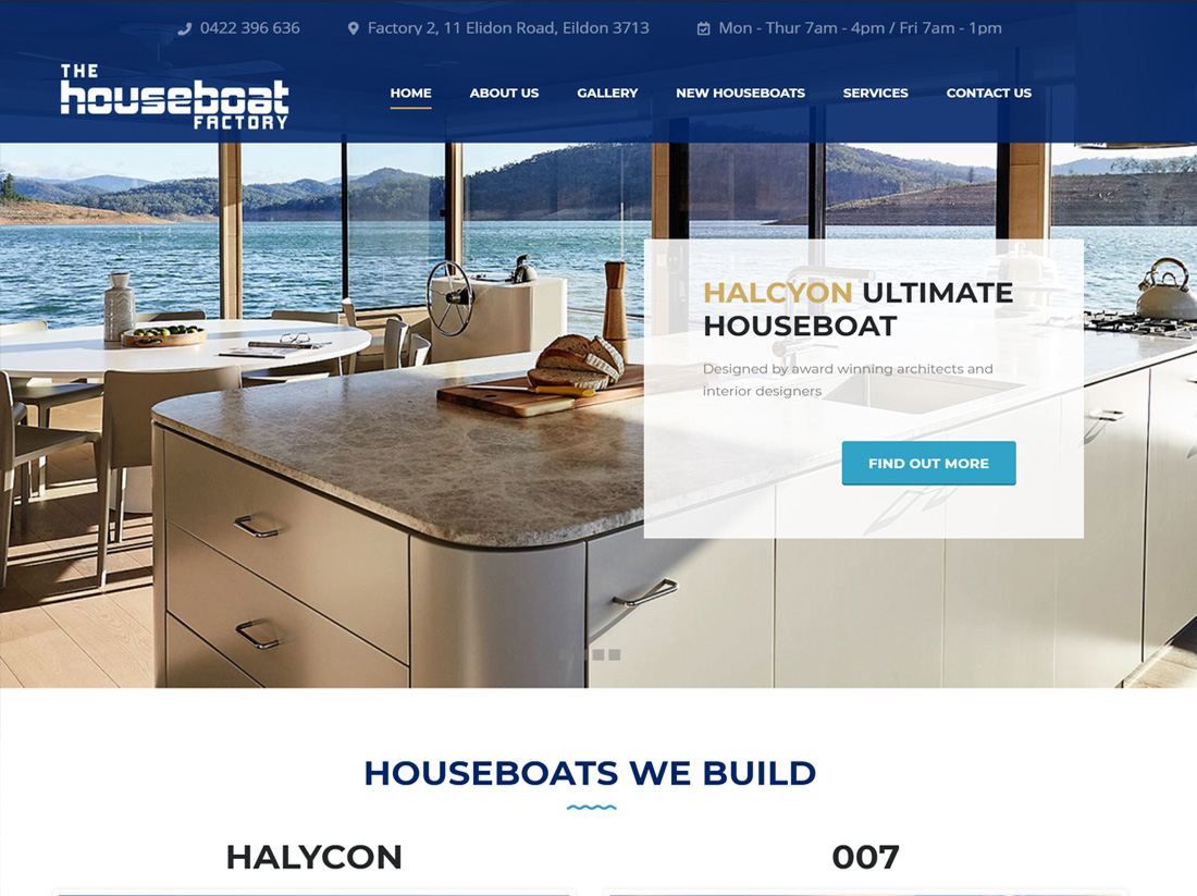 The Houseboat Factory Website Project