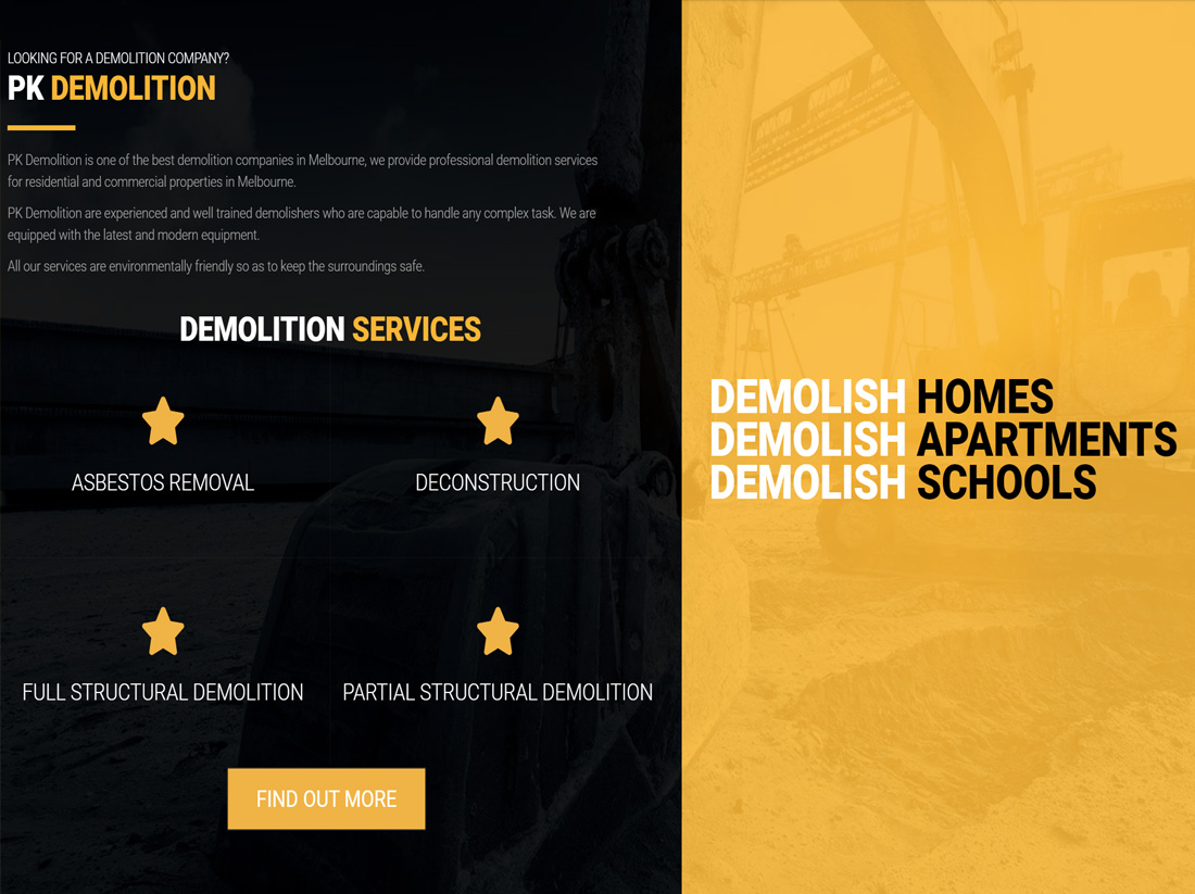 Bring Personnel Website Project PK Demolition
