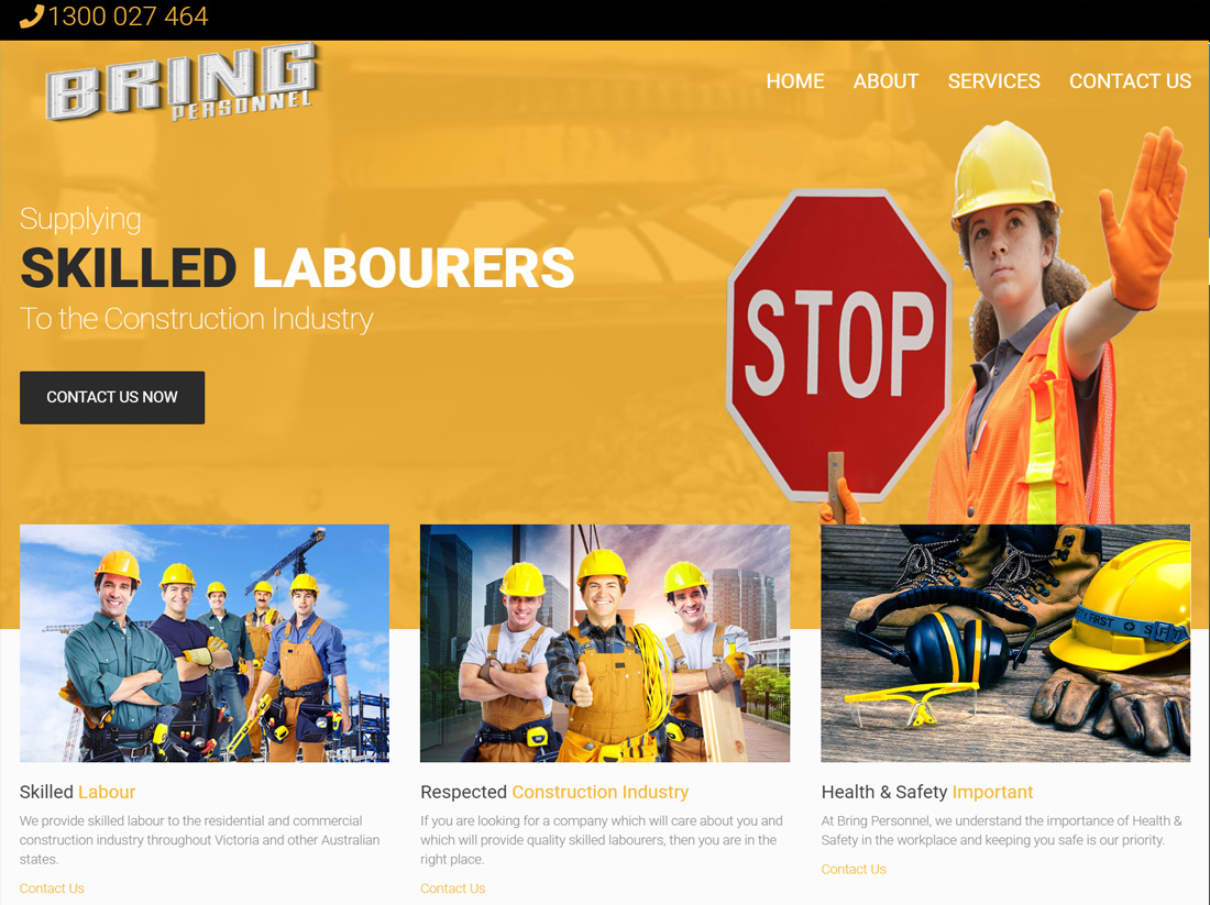 Bring Personnel Website Project
