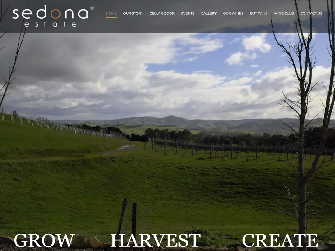 Sedona Estate Winery Website Project
