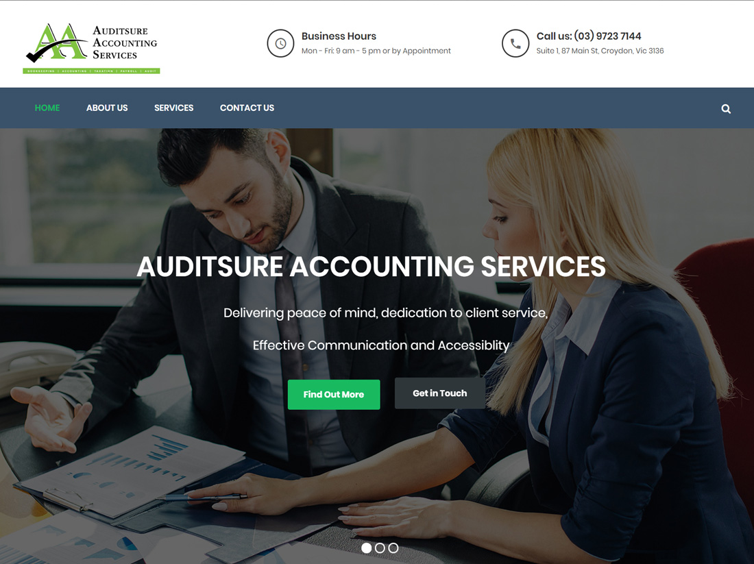 Auditsure Accounting Services Website Project