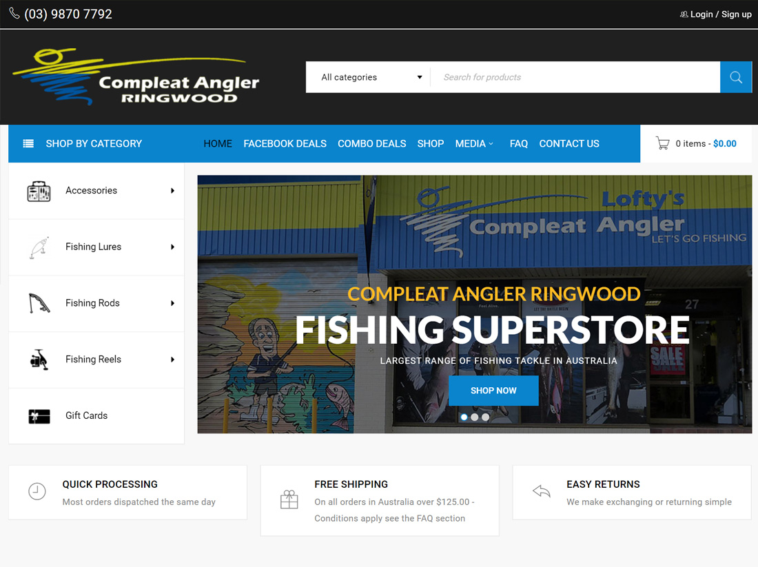 Compleat Angler Ringwood Website Project