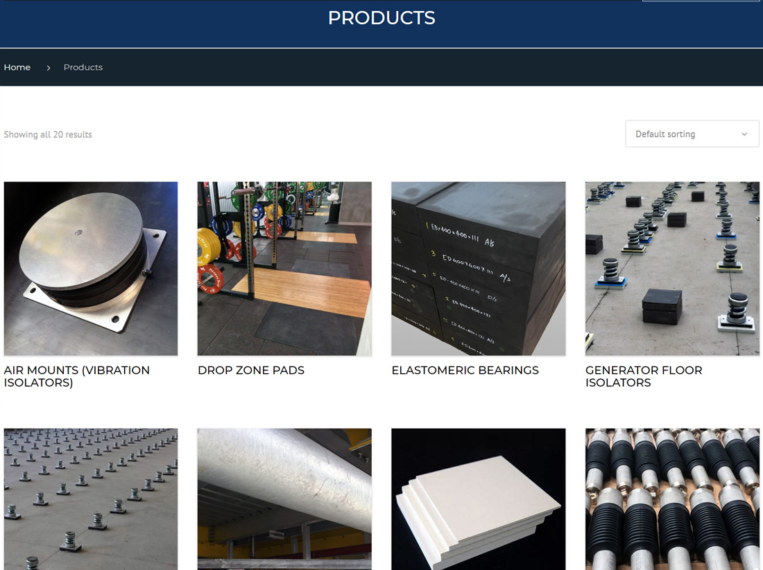 Engineering Dynamics Website Project Products Page