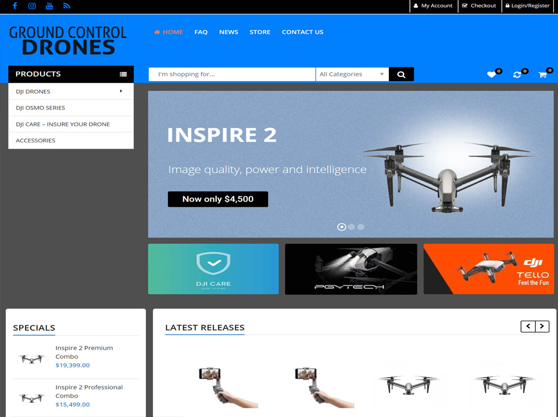 Ground Control Drones Website Project