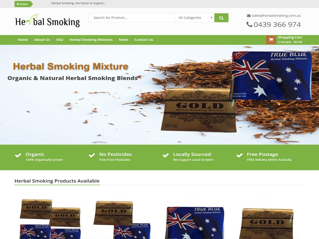 Herbal Smoking Website Project