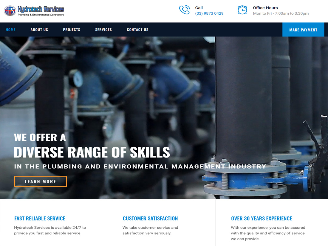 Hydrotech Services Website Project