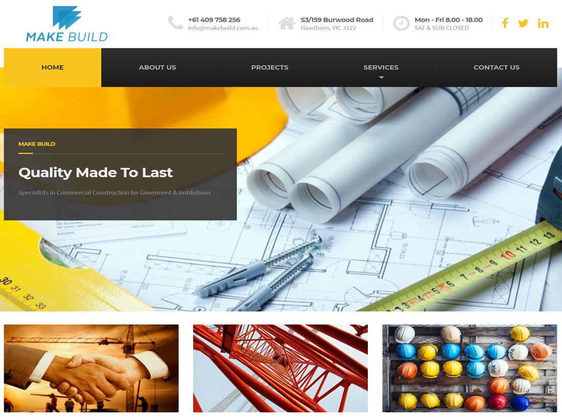 Make Build Website Project