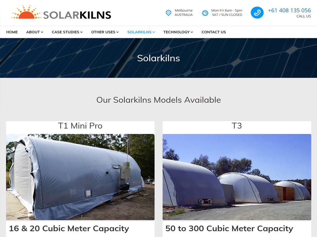 Solar Kilns Website Project Kilns