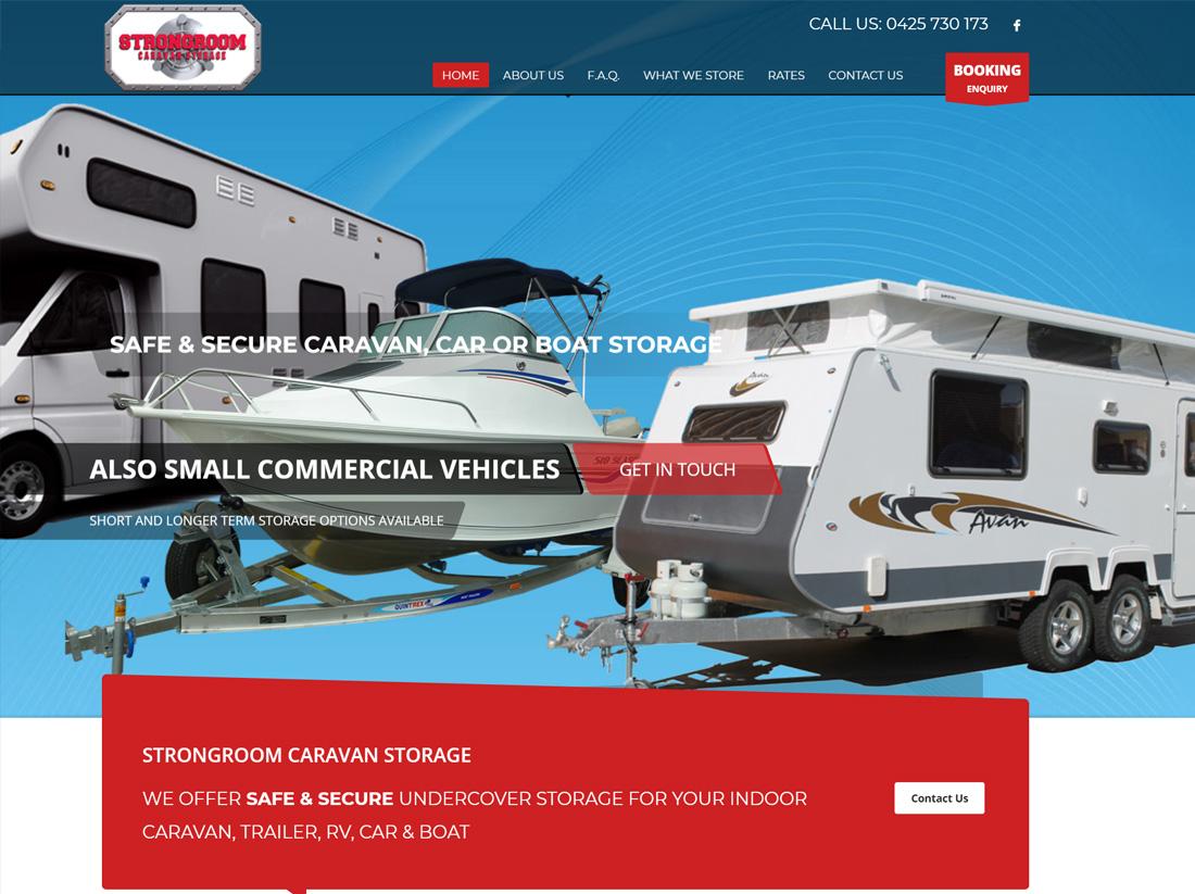 Strongroom Caravan Storage Website Project