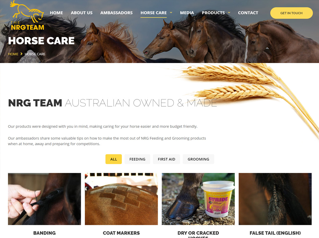 The NRG Team Horse Care