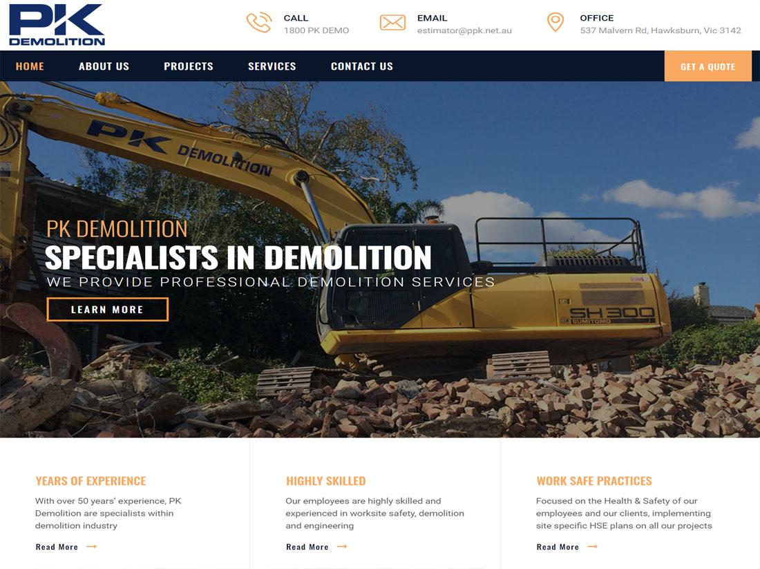PK Demolition Website Project