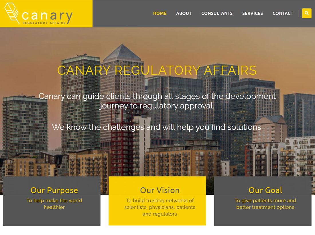 Canary Regulatory Affairs Website Project