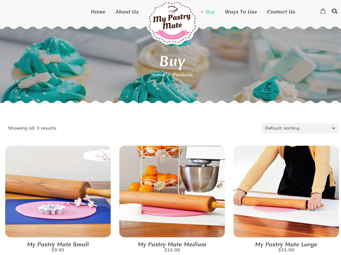 My Pastry Mate Website Project Buy Page